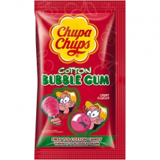 Chupa Chups Cotton Bubble Gum Cherry 14x11g