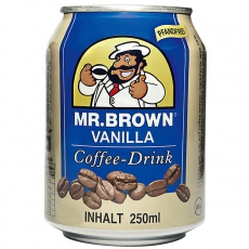 Mr. Brown Vanilla Eiskaffee 24x250ml
