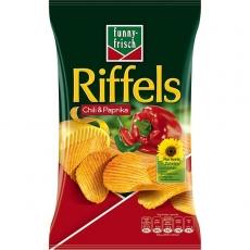 Funny-Frisch Riffels Chili & Paprika 10x150g