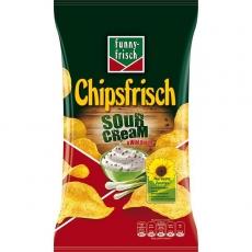 Funny-Frisch Chipsfrisch Sour Cream & Wild Onion 10x175g