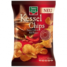 Funny-Frisch Kessel Chips Sweet Chili & Red Pepper 10x120g