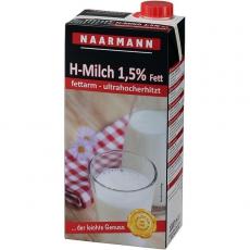 Naarmann H-Milch 1.5% Fett Drehverschluß 12x1L