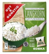 G&G Kochbeutel Reis Langkorn Spitzenreis 500g