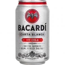 Bacardi Carta Blanca and Cola 12x330ml inklusive Pfand