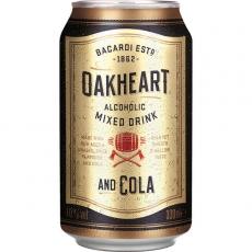 Bacardi Oakheart Mixed Drink and Cola 12x330ml inklusive Pfand